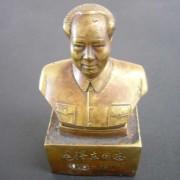 毛主席真鍮像