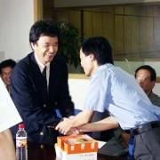 精英彩色の社長より若い29歳の劉社長。(良虹印刷有限公司)