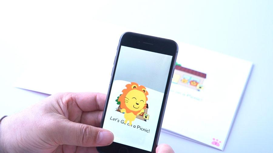 絵日記ライオンARアプリ